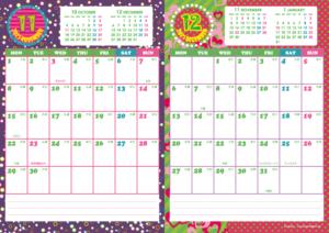 2021年11・12月|キッズポップカレンダー(縦2ヶ月/A4)