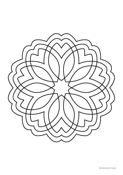 マンダラ塗り絵60【無料ダウンロード】