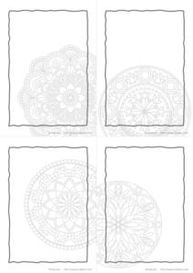 マンダラ柄1【無料ダウンロード】|メモ帳