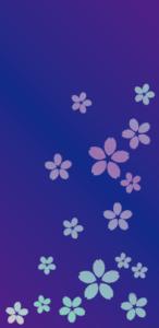 桜(藍色)【無料ダウンロード】|ポチ袋