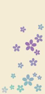桜(生成り)【無料ダウンロード】|ポチ袋