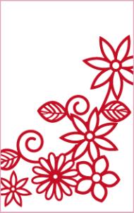 花畑(紅色)【無料ダウンロード】|ポチ袋