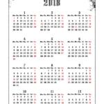 2018年ゴシックカレンダー(年間カレンダー) UPしました。