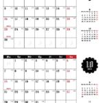 2019年ゴシックカレンダー(横2ヶ月/A4) UPしました。