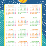 2017年キッズポップカレンダー(年間カレンダー) UPしました。