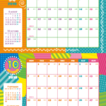 2019年キッズポップカレンダー(横2ヶ月/A4) UPしました。