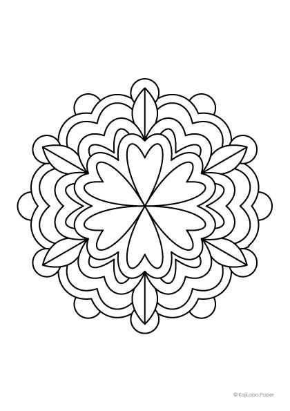 マンダラ塗り絵43【無料ダウンロード】