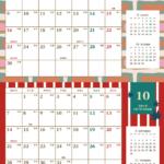 2019年レトロモダンカレンダー(横2ヶ月/A4) UPしました。